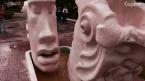 В Заводском районе открыта необычная скульптура - фонтан