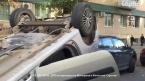 В ДТП перевернулся автомобиль