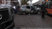 На Московской столкнулись 3 автомобиля
