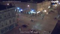 Столкновение двух автомобилей на перекрестке ул. Московской и Радищева
