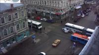 ДТП на Московской зафиксировала веб-камера