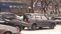 """Пожарная машина """"собрала"""" 6 автомобилей"""